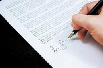 Garantie Unterschrift